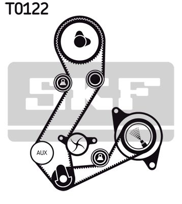 Wasserpumpe + Zahnriemenkit VKMC 04106-4 SKF VKPC84408 in Original Qualität