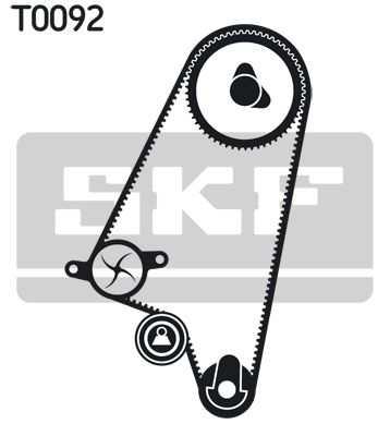 Zahnriemen Kit + Wasserpumpe VKMC 90202 SKF VKPC90202 in Original Qualität
