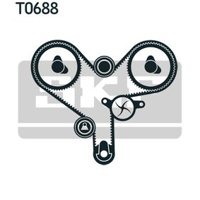 Water pump and timing belt kit with OEM Number 13503-62010