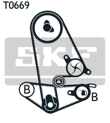 Bomba de Agua + Juego de Distribución SKF VKMA93600 evaluación