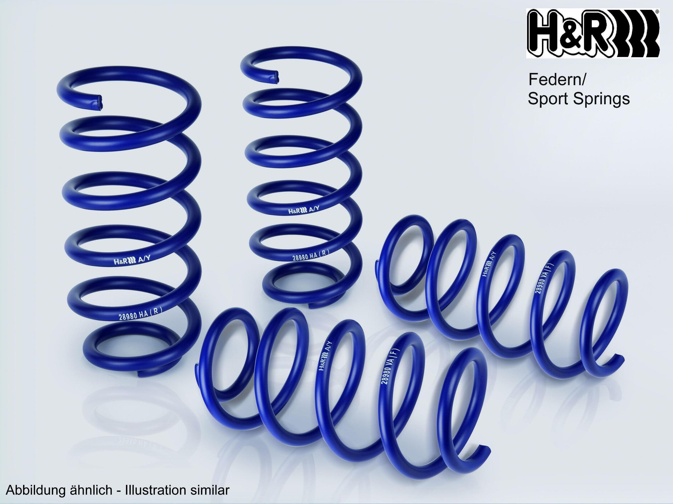 Molas helicoidais H&R 28933-1 classificação