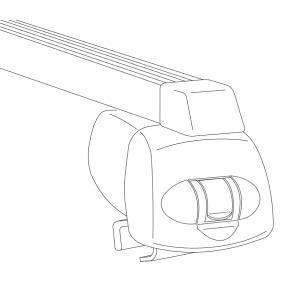 Estrutura de transporte no tejadilho / barras de tejadilho Comprimento: 110cm 044208 VW GOLF, UP