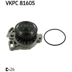 SKF Wasserpumpe VKPC 81605 für AUDI 90 (89, 89Q, 8A, B3) 2.2 E quattro ab Baujahr 04.1987, 136 PS