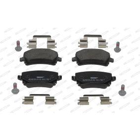 Bremsbelagsatz, Scheibenbremse Höhe 1: 56mm, Dicke/Stärke: 17mm mit OEM-Nummer JZW698451M
