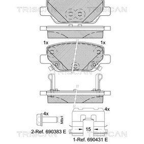 Bremsbelagsatz, Scheibenbremse Breite: 99,9mm, Höhe: 42,3mm, Dicke/Stärke: 17,2mm mit OEM-Nummer 77367717