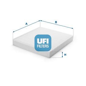 Filter, Innenraumluft Länge: 254mm, Breite: 235mm, Höhe: 32mm mit OEM-Nummer 65.61910.0000