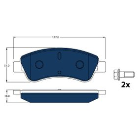 Brake Pad Set, disc brake Height: 50,8mm, Thickness: 18,8mm with OEM Number 4254.75