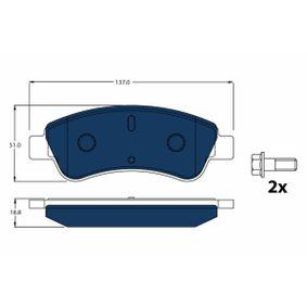 TRW  GDB1463BTE Brake Pad Set, disc brake Height: 50,8mm, Thickness: 18,8mm