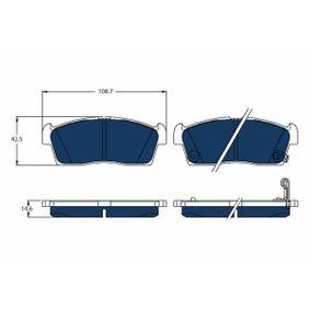 TRW  GDB1940BTE Brake Pad Set, disc brake Height: 42,5mm, Thickness: 14,6mm