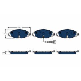 Bremsbelagsatz, Scheibenbremse Höhe: 64,5mm, Dicke/Stärke: 20,4mm mit OEM-Nummer 8V0 698 151