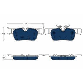 TRW  GDB2063BTE Brake Pad Set, disc brake Height: 46,6mm, Thickness: 16,0mm