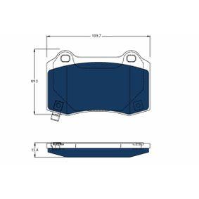 Bremsbelagsatz, Scheibenbremse Höhe: 69,3mm, Dicke/Stärke: 14,6mm mit OEM-Nummer 105506800B