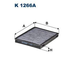 Filter, Innenraumluft Länge: 276mm, Breite: 206mm, Höhe: 26,5mm mit OEM-Nummer 95 599 725