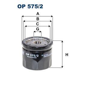 Filtro de aceite OP 575/2 CR-V 4 (RM_) 1.6 i-DTEC 4WD ac 2016