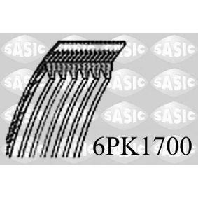 Keilrippenriemen Länge: 1700mm, Rippenanzahl: 6, angetriebene Aggregate: angetr. Agg.: Generator mit OEM-Nummer 03C 260 849 A
