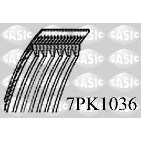 Keilrippenriemen Länge: 1036mm, Rippenanzahl: 7, angetriebene Aggregate: angetr. Agg.: Generator mit OEM-Nummer 8200 830 196
