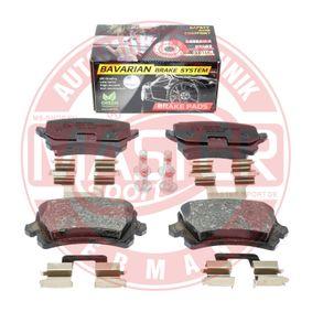 Bremsbelagsatz, Scheibenbremse Breite: 105,2mm, Höhe: 56,4mm, Dicke/Stärke: 16,9mm mit OEM-Nummer 1K0.698.451H