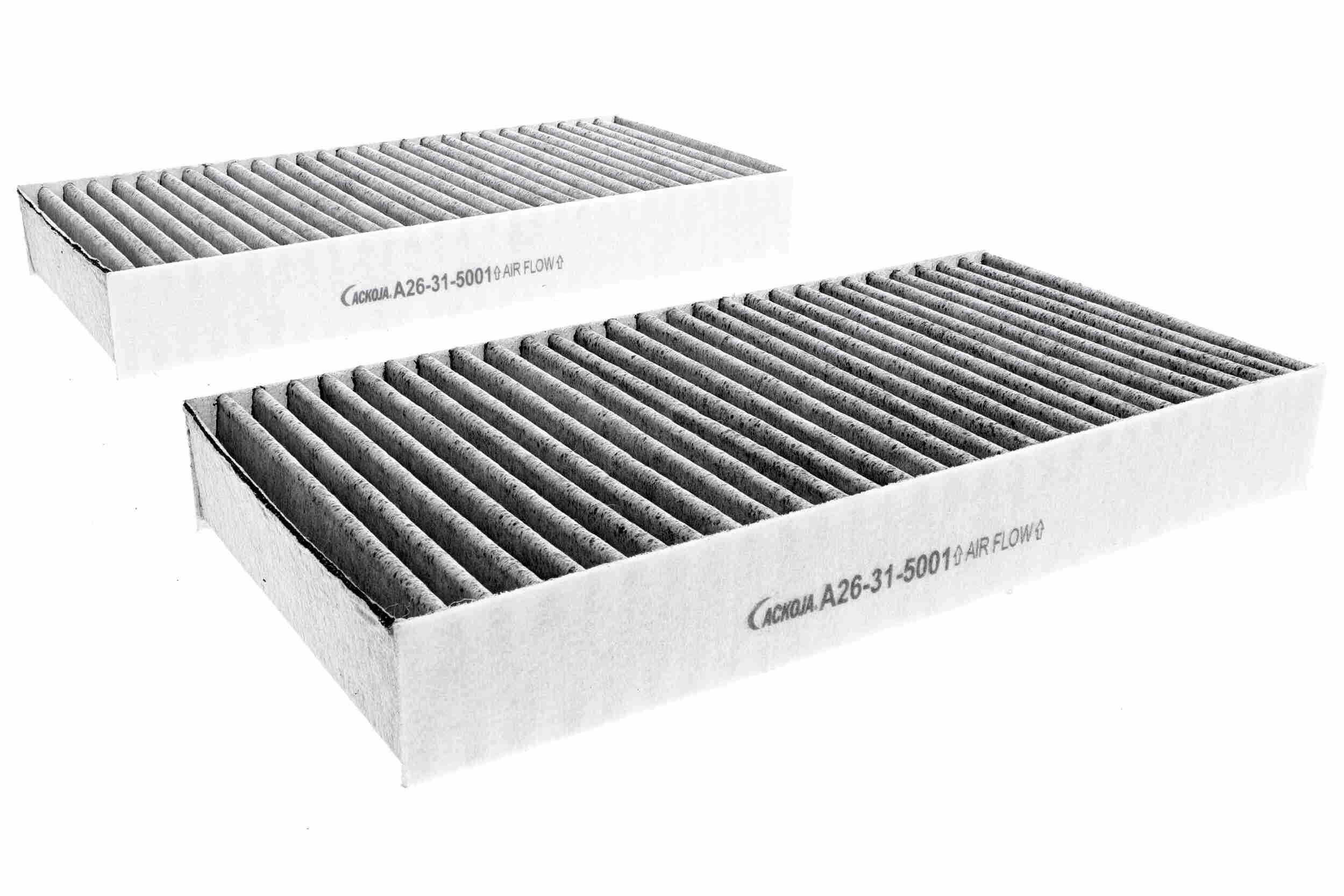 ACKOJA  A26-31-5001 Filtro, aire habitáculo Long.: 226mm, Ancho: 112mm, Altura: 29mm