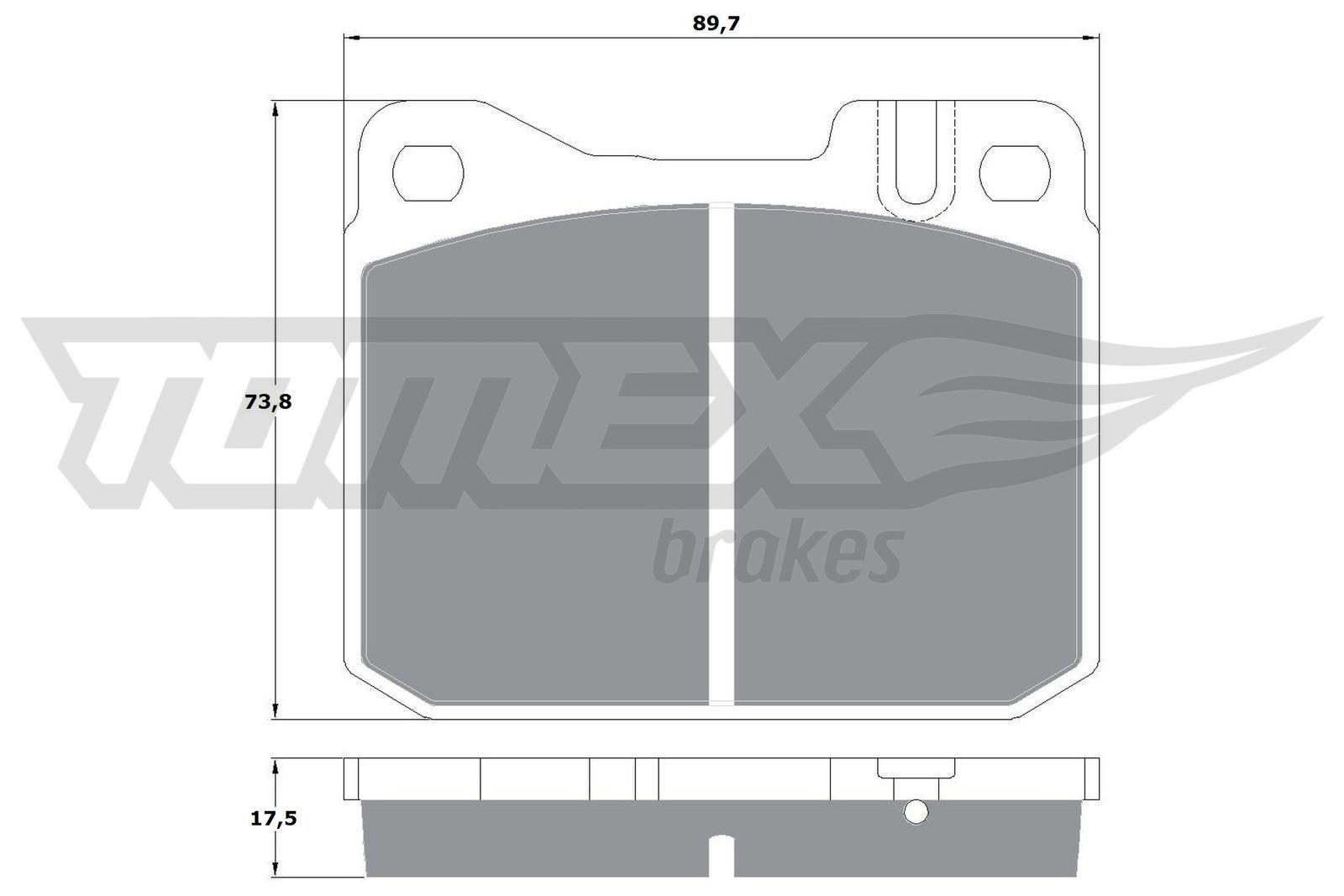 Bremsbeläge TX 10-222 TOMEX brakes 20341 in Original Qualität