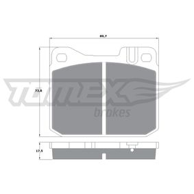 Bremsbelagsatz, Scheibenbremse Breite: 89,7mm, Höhe: 73,8mm, Dicke/Stärke: 17,5mm mit OEM-Nummer A00 042 09520
