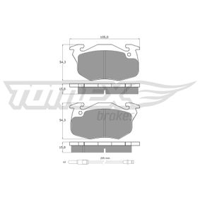 2007 Twingo c06 1.2 Brake Pad Set, disc brake TX 10-342
