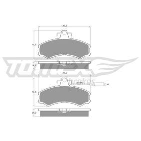 Bremsbelagsatz, Scheibenbremse Breite: 130mm, Höhe: 71,3mm, Dicke/Stärke: 19mm mit OEM-Nummer 9940092