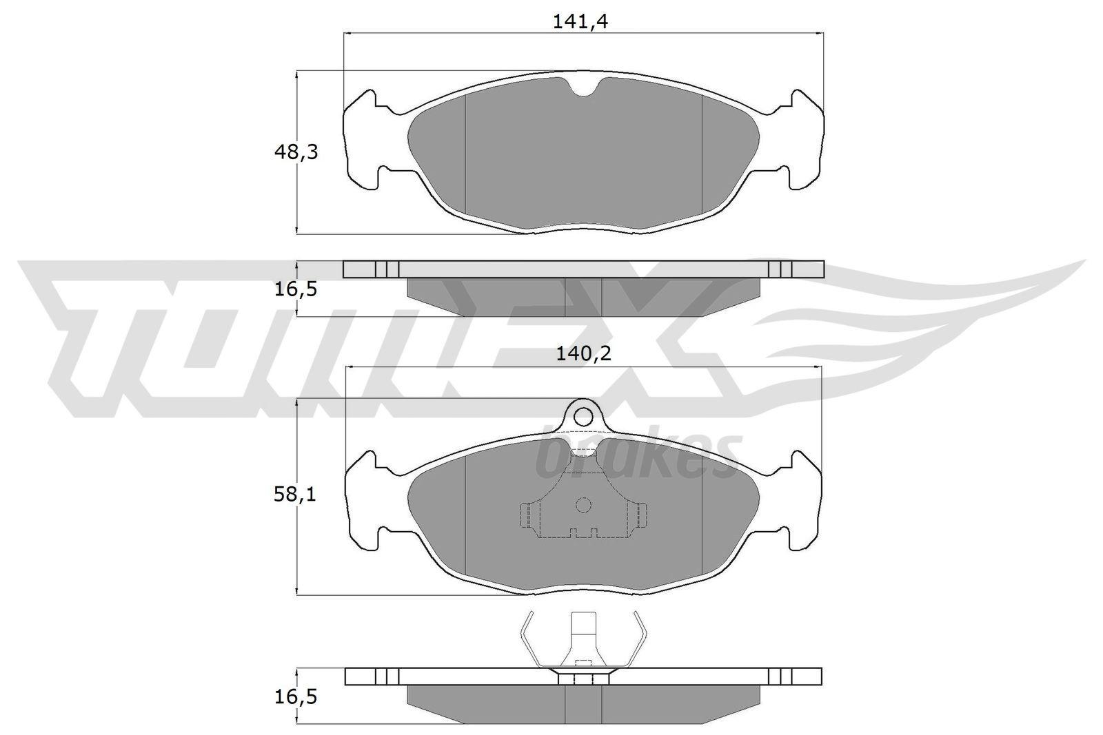 Комплект спирачно феродо, дискови спирачки TX 10-49 TOMEX brakes 21353 в оригиналното качество