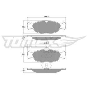Комплект спирачно феродо, дискови спирачки ширина: 140,2мм, височина: 58,1мм, дебелина: 17,3мм с ОЕМ-номер 90421736