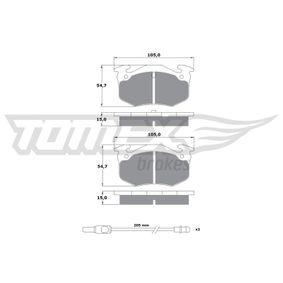 2007 Twingo c06 1.2 Brake Pad Set, disc brake TX 10-512