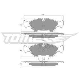 Bremsbelagsatz, Scheibenbremse Breite: 156,4mm, Höhe: 52,8mm, Dicke/Stärke: 17,7mm mit OEM-Nummer 1 605 808