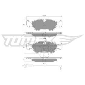 Bremsbelagsatz, Scheibenbremse Breite: 156,4mm, Höhe: 52,8mm, Dicke/Stärke: 17,7mm mit OEM-Nummer 1605 808