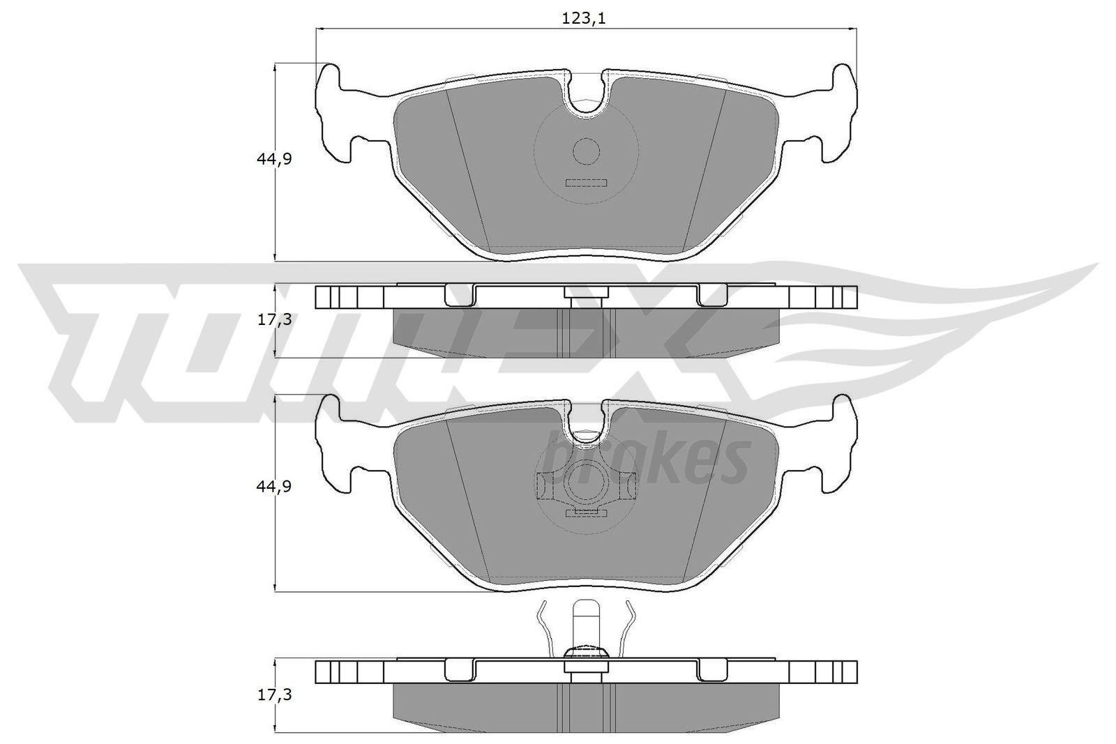 Bremsbeläge TX 10-70 TOMEX brakes 20996 in Original Qualität
