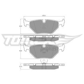 Bremsbelagsatz, Scheibenbremse Höhe: 44,9mm, Dicke/Stärke: 17,3mm mit OEM-Nummer 34 21 1 162 446.