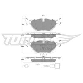 Bremsbelagsatz, Scheibenbremse Breite: 123,1mm, Höhe: 44,9mm, Dicke/Stärke: 17,3mm mit OEM-Nummer 34 21 1 160 341