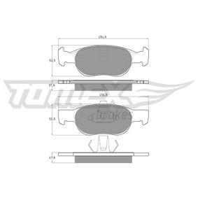 Brake Pad Set, disc brake TX 10-71 PUNTO (188) 1.2 16V 80 MY 2002