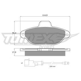 Brake Pad Set, disc brake TX 10-72 PANDA (169) 1.2 MY 2018