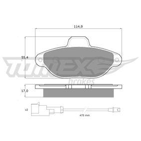 Brake Pad Set, disc brake TX 10-721 PANDA (169) 1.2 MY 2016