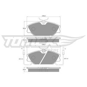 Bremsbelagsatz, Scheibenbremse Breite: 130mm, Höhe: 55,6mm, Dicke/Stärke: 18mm mit OEM-Nummer 7701202289