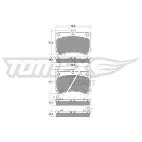Bremsbelagsatz, Scheibenbremse TX 10-91 323 P V (BA) 1.3 16V Bj 1997