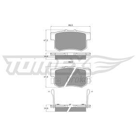 Honda Civic eu7 1.6i Bremsbeläge TOMEX brakes TX 11-00 (1.6i Benzin 2004 D16W7)