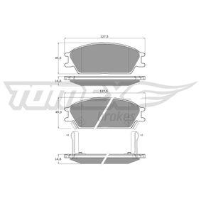 Bremsbelagsatz, Scheibenbremse Breite: 127,5mm, Höhe: 49mm, Dicke/Stärke: 14,8mm mit OEM-Nummer 5810124B00