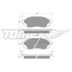Bremsbelagsatz, Scheibenbremse Breite: 137mm, Höhe: 54mm, Dicke/Stärke: 17mm mit OEM-Nummer 5810129A40
