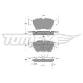 Bremsbelagsatz, Scheibenbremse Höhe 1: 66,3mm, Höhe 2: 60mm, Dicke/Stärke: 19,5mm mit OEM-Nummer A0024204420
