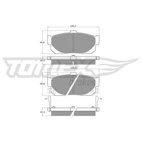 Bremsbelagsatz, Scheibenbremse Breite: 105,3mm, Höhe: 46,8mm, Dicke/Stärke: 16,3mm mit OEM-Nummer 44060-5M490