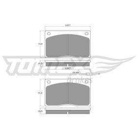 TOMEX brakes Kit de plaquettes de frein, frein à disque Essieu avant