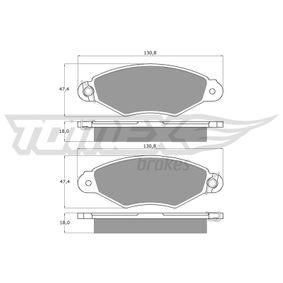 Bremsbelagsatz, Scheibenbremse Breite: 130,8mm, Höhe: 47,4mm, Dicke/Stärke: 18mm mit OEM-Nummer 425205