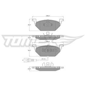 Bremsbelagsatz, Scheibenbremse Breite: 146mm, Höhe: 54,7mm, Dicke/Stärke: 19mm mit OEM-Nummer JZW698151