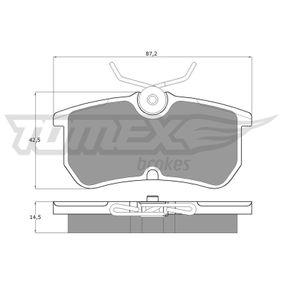 Bremsbelagsatz, Scheibenbremse Breite: 87,2mm, Höhe: 42,5mm, Dicke/Stärke: 14,5mm mit OEM-Nummer 98AX2M0-08BA