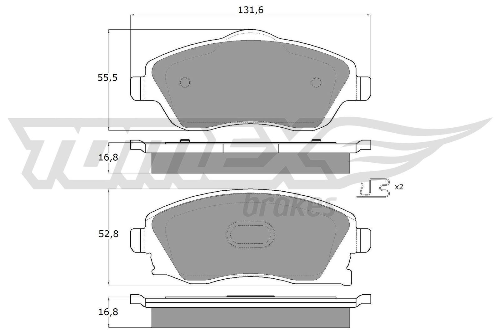 Bremsbeläge TX 12-19 TOMEX brakes 23226 in Original Qualität
