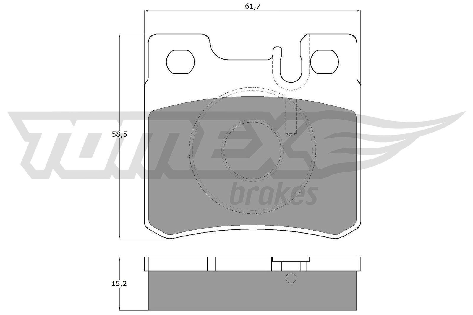 Bremsbeläge TX 12-33 TOMEX brakes 21197 in Original Qualität